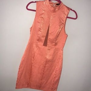 Coral Snakeskin Dress by Ark & Co.